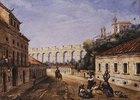 Aquädukt und das Kloster der heiligen Teresa in Rio de Janeiro
