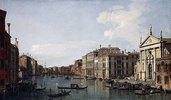 Der Canal Grande in Venedig. Blick in Richtung Süd-Osten von der San Stae zur Fabbriche Nuove di Rialto