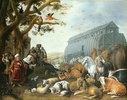 Die Tiere besteigen Noahs Arche