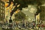 Das Leben eines Feuerwehrmannes - Die neue Ära. Dampf und Muskel. 1861. Veröffentlicht von 'Currier and Ives'