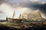 Segelschiffe vor Gibraltar