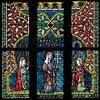 Menschwerdung Christi. Buntglasfenster im Chorumgang. Kurz vor 1330. Detail: Anbetung der Könige