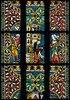 Johannes- und Katharinafenster. Buntglasfenster im Chorumgang des Klosters Königsfelden.Detail: Enthauptung des Johannes
