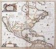 Karte von Nordamerika. Aus dem Werk 'Nouveau Theatre Du Monde Ou Nouvel Atlas Comprenant Les Tables Et Descriptions De Toutes Les Regions De La Terre'