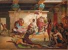 Antonius und Kleopatra überwachen die Hinrichtung der Verschwörer