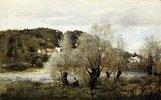 Angler an einem Teich bei Avary