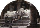 Szene aus Romeo und Julia: Die Gruft (5. Akt, 3. Szene)