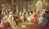 Der junge Mozart gibt ein Konzert