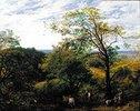 Waldlandschaft mit Reisigsammlern
