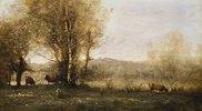 Teich mit drei Kühen (Erinnerung an Avray)