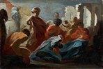 Die Anbetung der Könige (Farbskizze). 17. Jh