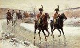 Napoleon mit seiner Eskorte