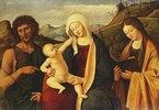 Die Jungfrau mit dem Kinde. Mit Johannes dem Täufer und einer Heiligen