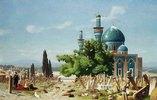 Ruhestätte. Um 1876. (Das Gemälde zeigt den Friedhof der Grünen Moschee in Bursa in der Türkei.)