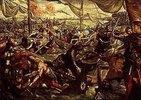 Ludovico II.Gonzaga besiegt die Venezianer auf der Etsch bei Legnano