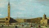 Der Markusplatz in Venedig, Blick nach Westen