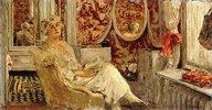 Lucy Hessel im Ankleidezimmer in Cézanne's Anwesen in Vaucresson