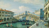 Die Rialtobrücke über den Canal Grande in Venedig