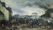 Die Verteidigung des Meierhofes La Haye Sainte bei Waterloo