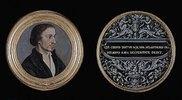 Bildnis des Philipp Melanchthon. Ornament mit Sinnspruch. Ca. 1535.