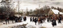 Ankunft des Prinzen Friedrich Karl von Preußen auf dem Schlachtfelde von Vionville