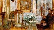Monsieur Arthur Fontaine in seinem Wohnzimmer