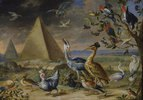 Die vier Erdteile. Detail aus der Tafel Asien: Pyramide