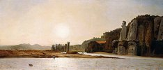 Sonnenaufgang am Ufer der Durance bei Mirabeau