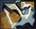 Gitarre und Obstschale