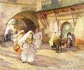 Araberinnen auf einer Straße