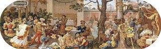 Ein florentinisches Fest: Zeitvertreib nach dem Mahl (aus einer Folge von 6 Werken, siehe auch Bildnummern 42741+42742,42744-42746)