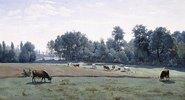 Marcoussis - weidende Kühe (Marcoussis - les Vaches au paturage)