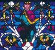 Westfenster mit dem Baum Jesse, die Abstammung Jesu zeigend. Um 1150. Detail