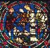 Mittleres Westfenster mit Kindheit und Leben Christi. Um 1145-1155. Detail: Der Kindermord in Bethlehem
