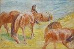 Weidende Pferde I