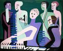 Sängerin am Piano (Pianistin)