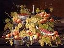 Stillleben mit Früchten und Champagner