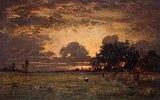 Sonnenuntergang über der Ebene von Barbizon