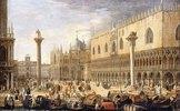 Die Piazzetta, Venedig, vom Bacino di San Marco aus gesehen