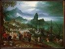 Christus predigt auf dem See Genezareth. 16. Jh