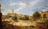 Das Forum Romanum und das Kapitol vom Konstantinsbogen aus