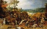 Eine Landschaft mit Plünderern, die eine Kutsche überfallen