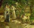 Die Töchter im Garten. 1906.