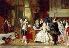 Sir Walter Raleigh bei Königin Elizabeth I