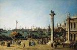 Der Bacino di S. Marco, Venedig, von der Piazzetta aus