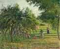 Apfelbäume und Heuwender in Eragny (Pommiers et Faneuses, Eragny)