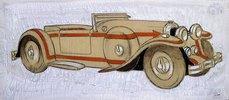 Illustration eines 1924 Delage mit Karosserie von Letourneur et Marchand