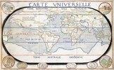 Carte Universelle (Weltkarte). Aus 'Atlas sive cosmographicae...', von Gerard Mercator (1512-1594) und Jodocus Hondius (1563-1611)