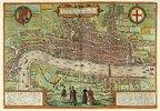 Ansicht von London. Tafel aus 'Beschreibung und Contrafactur der Vornembster Stät der Welt' von Georg Braun (1541-1622) und Frans Hogenberg (1535-1590)