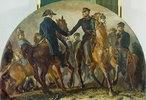 Blüchers Begegnung mit Wellington nach der Schlacht v. Belle-Alliance (Waterloo)